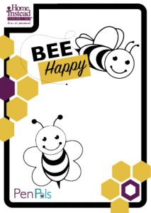 bee drawing template