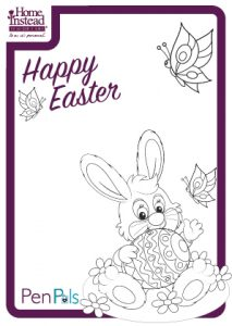 Easter bunny drawing template