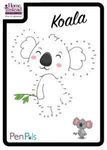Koala drawing template