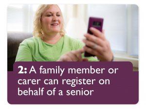 step 2: family member can register Pen Pal