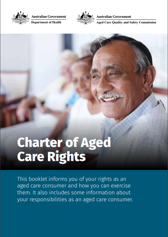 Charter of Aged Care Rights booklet