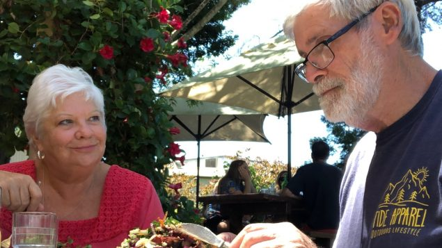Dementia real care stories Bob and his wife eating lunch